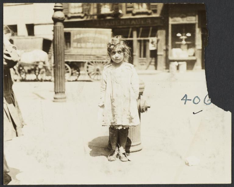 Girl in Front of Fire Hydrant