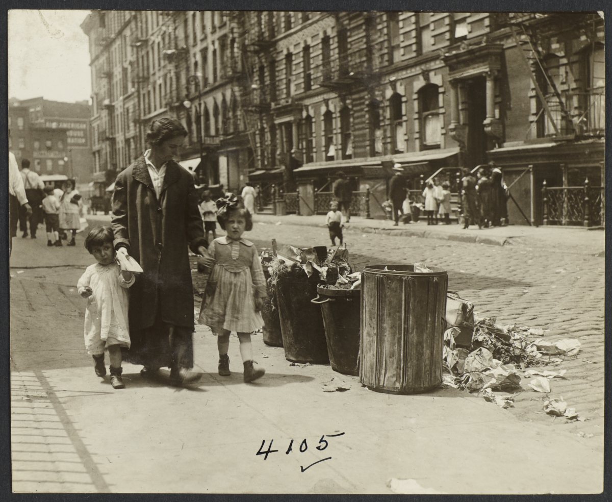Woman with Two Children and Mail