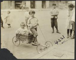 Boys with Box Cart