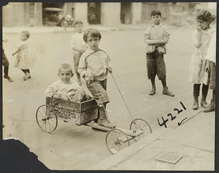 Boys with Box Cart