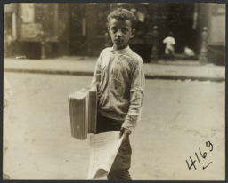 Boy with Newspapers
