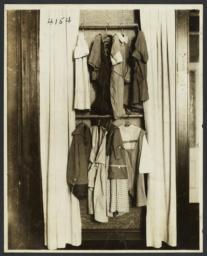 Women's Work Rooms Album -- Children's Clothes in Closet