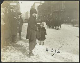 Children on Snowy Street