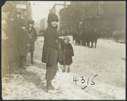 Children on Snowy Street
