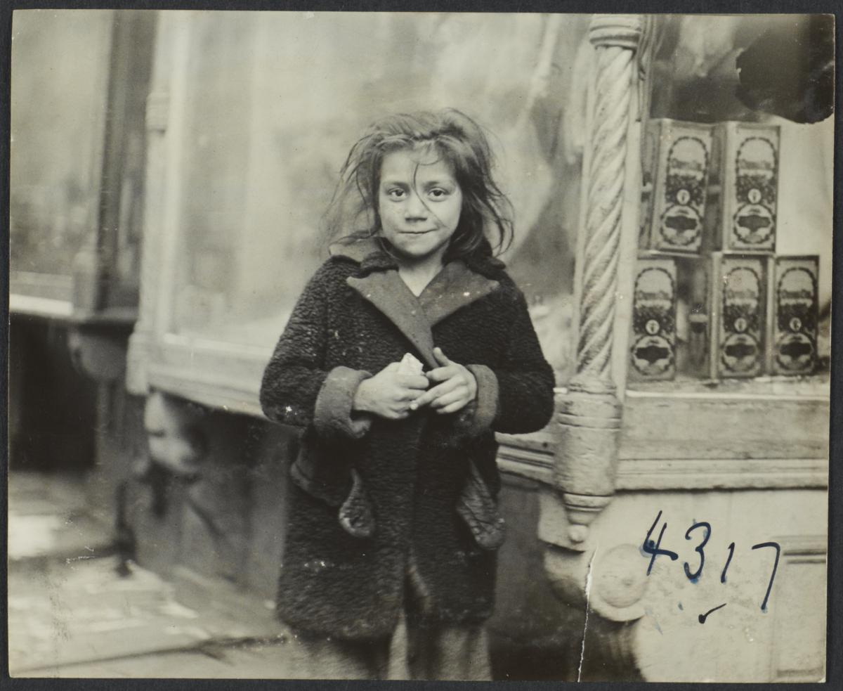Girl near Storefront Window