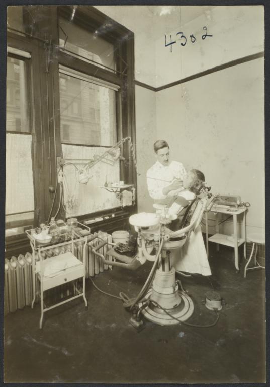 Mulberry Health Center Album -- Girl and Dentist