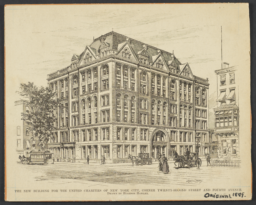 Building for the United Charities of New York City, Corner Twenty-Second Street and Fourth Avenue