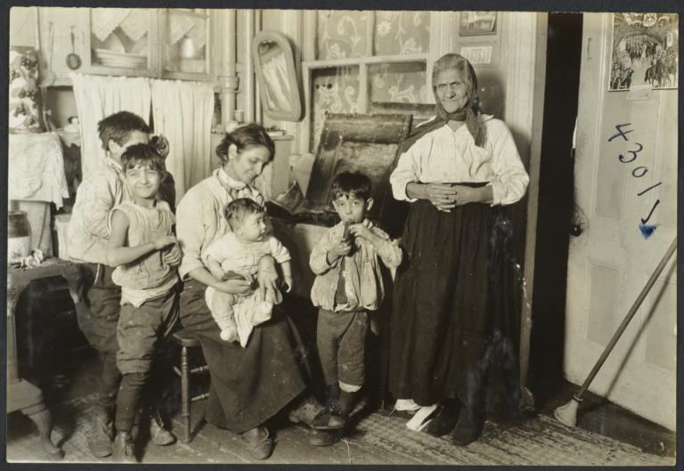 Mulberry Health Center Album -- Two Women with Four Children