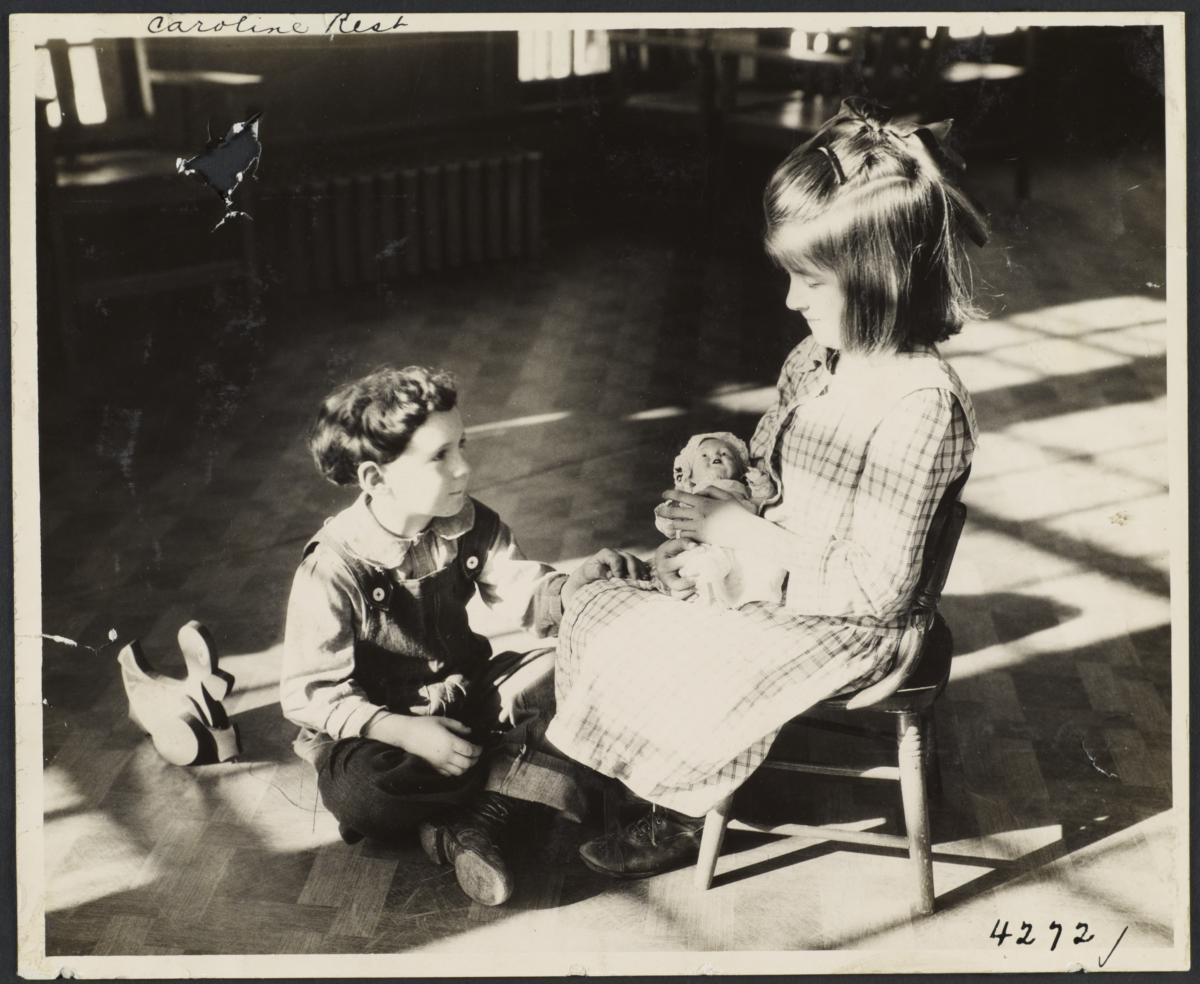 Boy and Girl with Doll