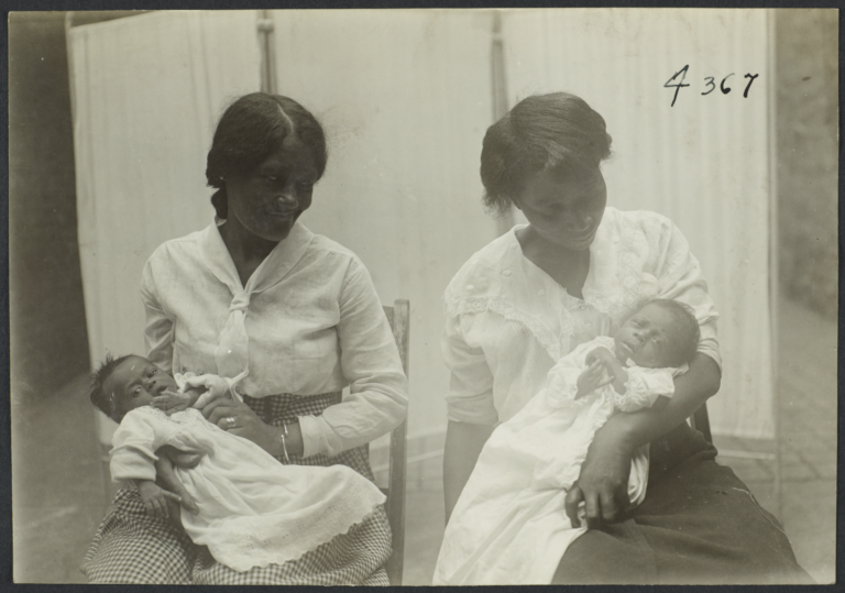 Columbus Hill Health Center Album -- Two Women with Babies