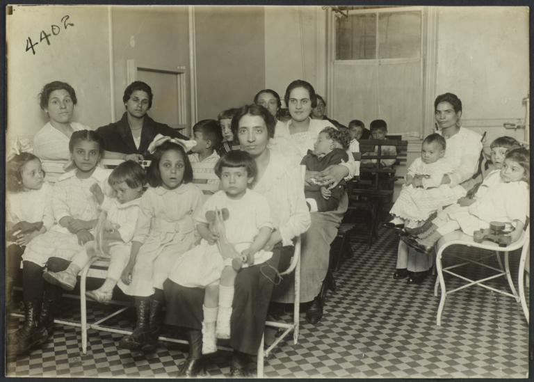 Mulberry Health Center Album -- Mothers and Kiddies Waiting for Care