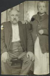 Woman with Hand on Man's Shoulder