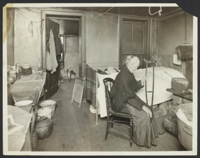 Old Woman in Tenement Room