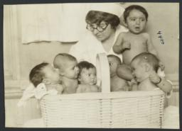 Mulberry Health Center Album -- Babies in Basket