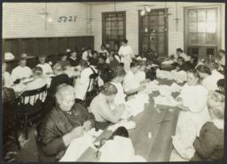 Women's Work Rooms Album -- Women Working in Crawford Shop