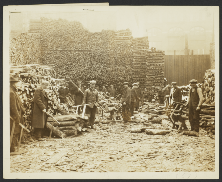 Men Working in Woodyard