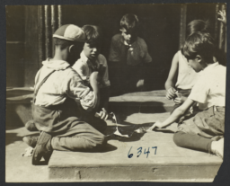 Boys Playing Cards