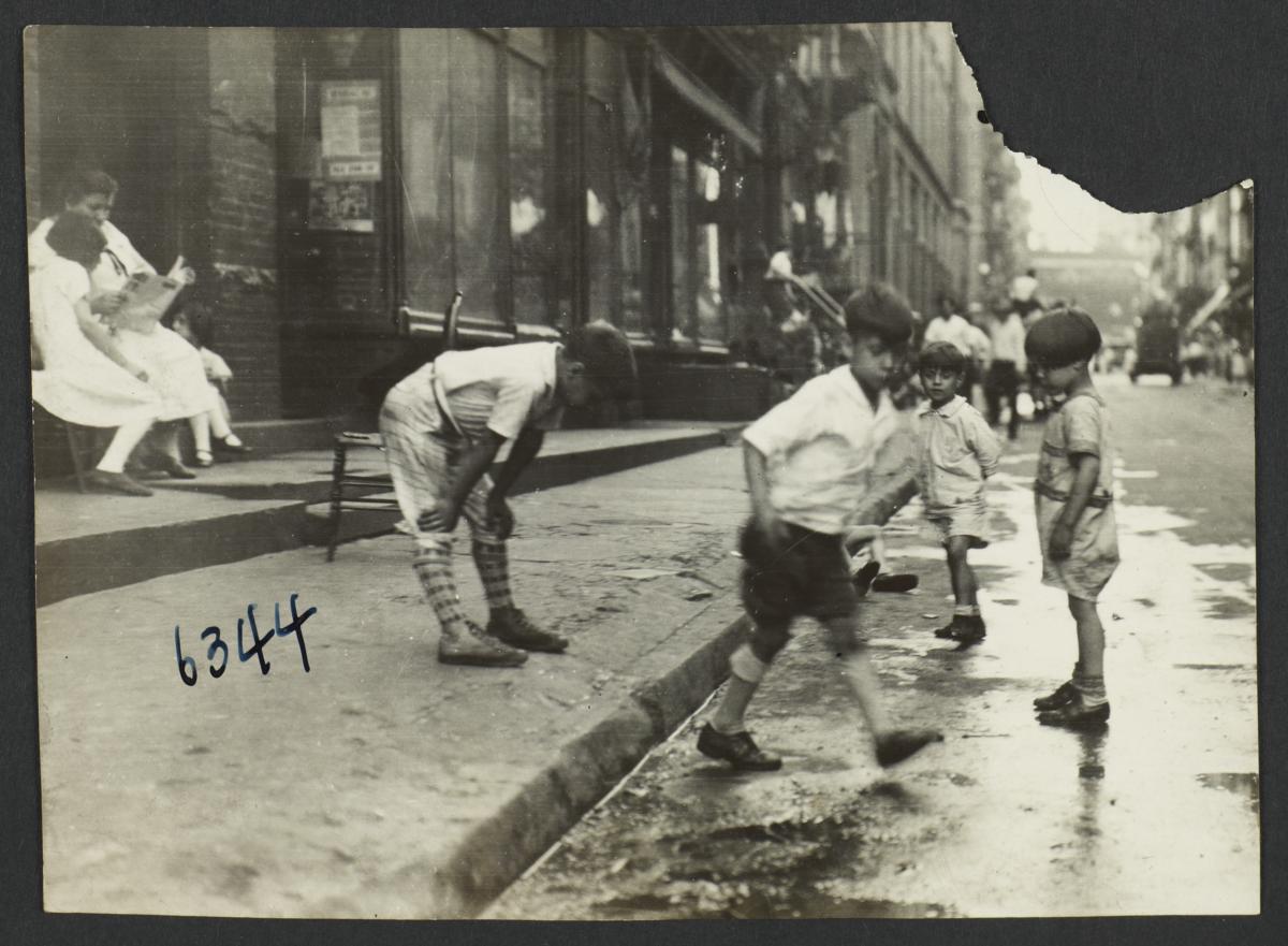 Children near Curb