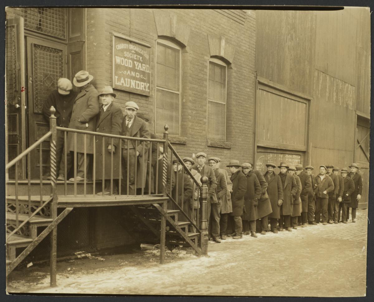 Unemployed Awaiting Work Outside Woodyard