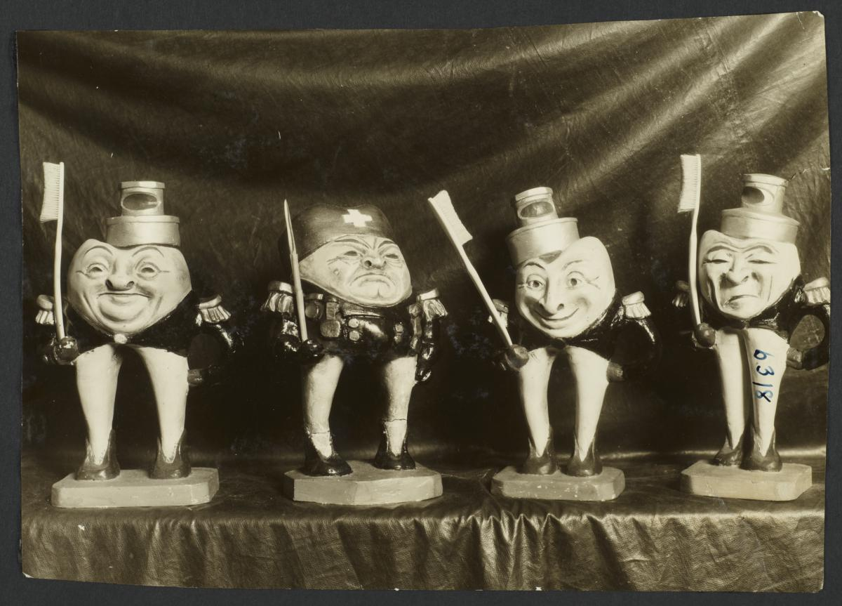 Mulberry Health Center Album -- Toothbrush Holders Shaped like Teeth