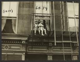 Two Children on Fire Escape