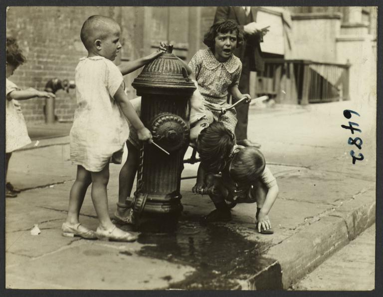 Children near Fire Hydrant