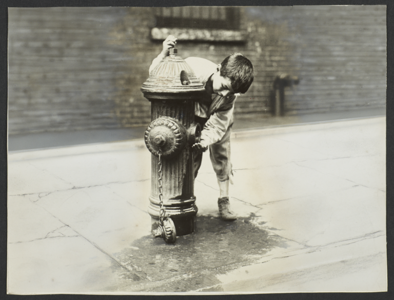 Boy with Fire Hydrant