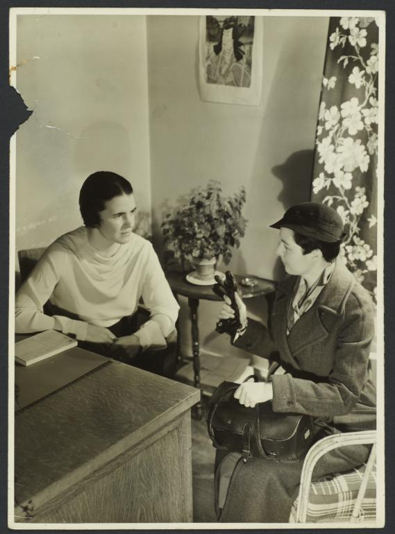 Henry Street Nurse with Charity Organization Society Worker