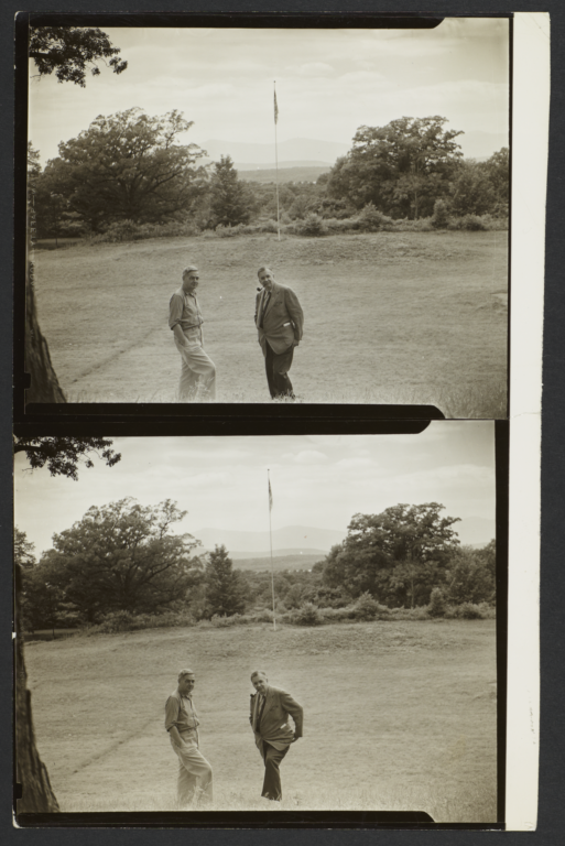 William H. Matthews and Unidentified Man Outdoors