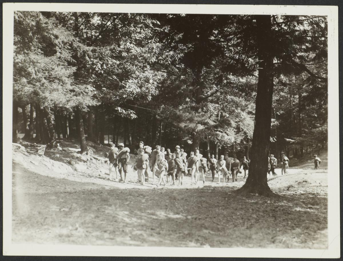 Children Walking at Summer Camp