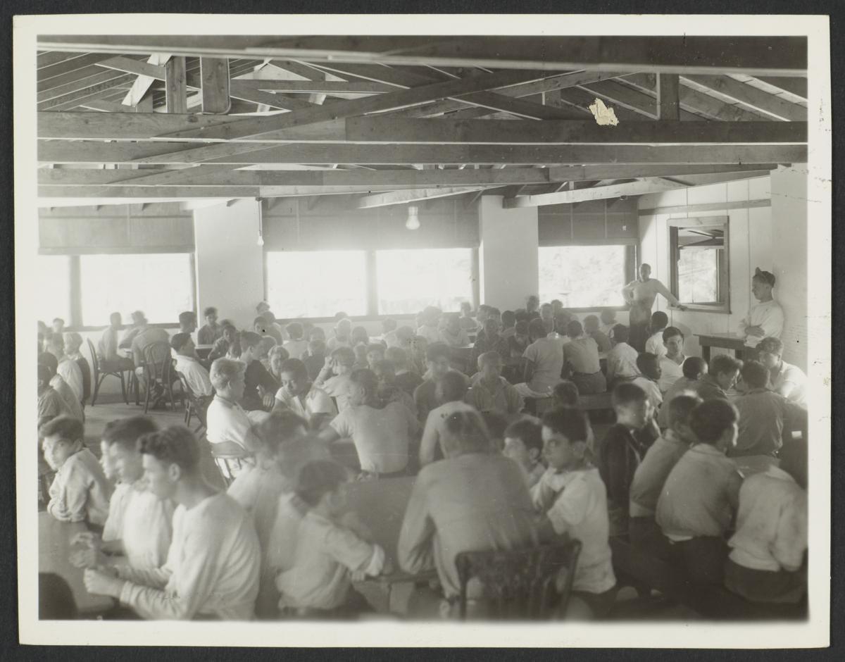 Boys in Dining Hall