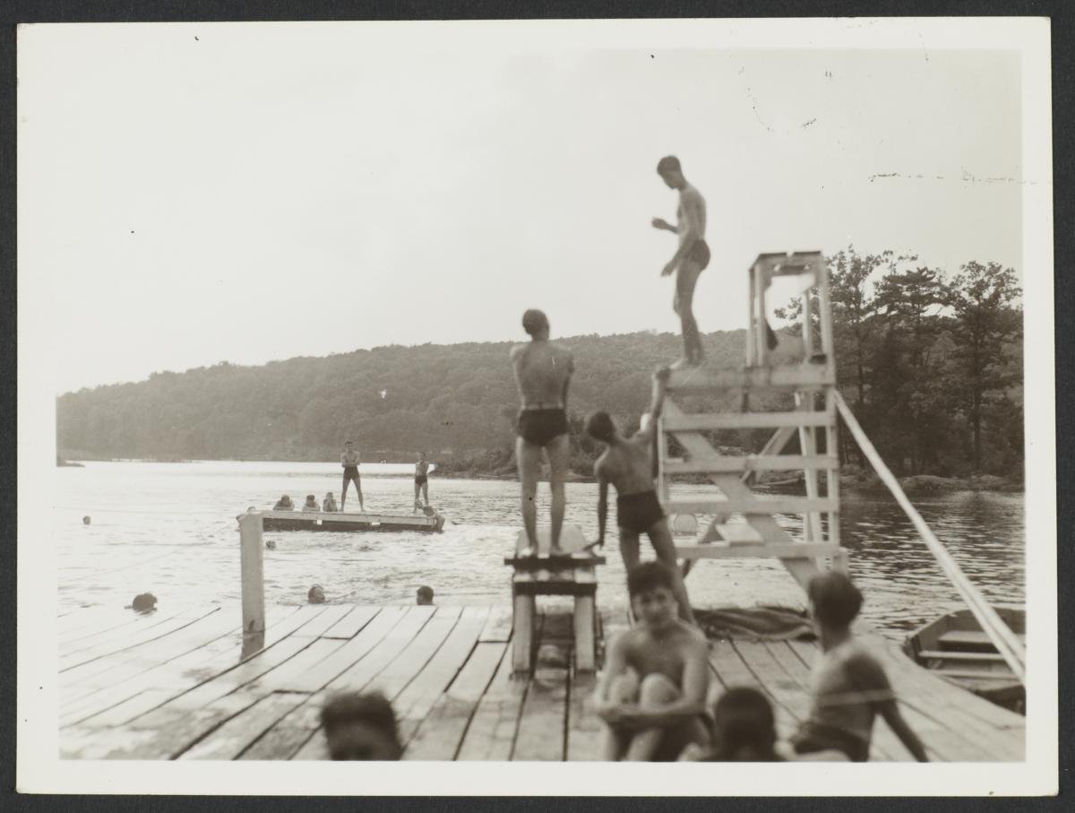 Boys on Dock