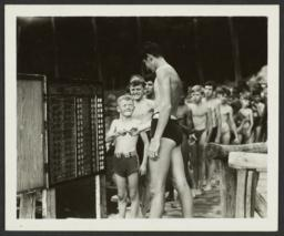 Boys in Line to Swim