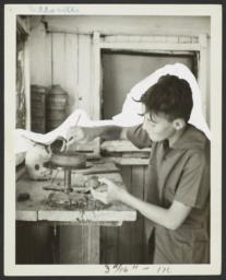 Boy Using a Pottery Wheel
