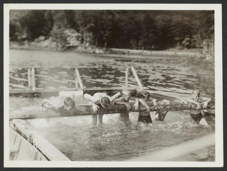 Boys Running in Water