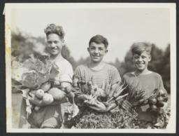 Boys with Vegetables