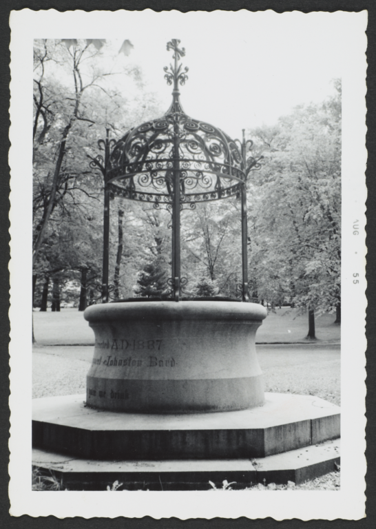 Ornate Well Next to Chapel of the Holy Innocents, Bard College