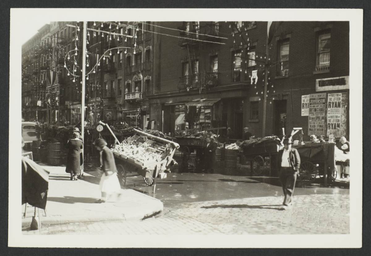 Pushcarts on Elizabeth Street