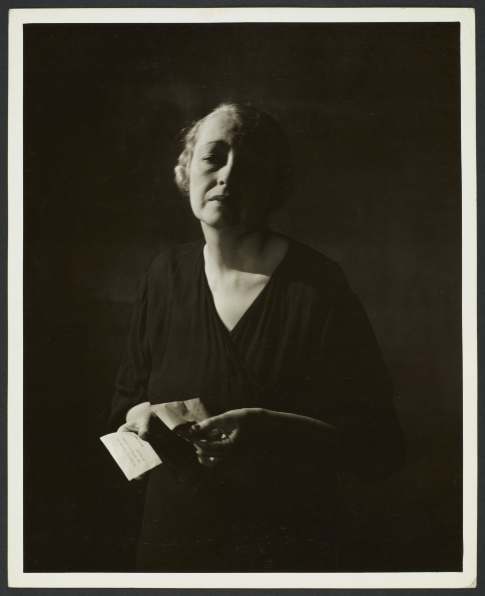 Woman with Letter