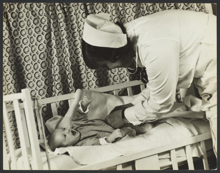 Nurse with Baby at Caroline Rest
