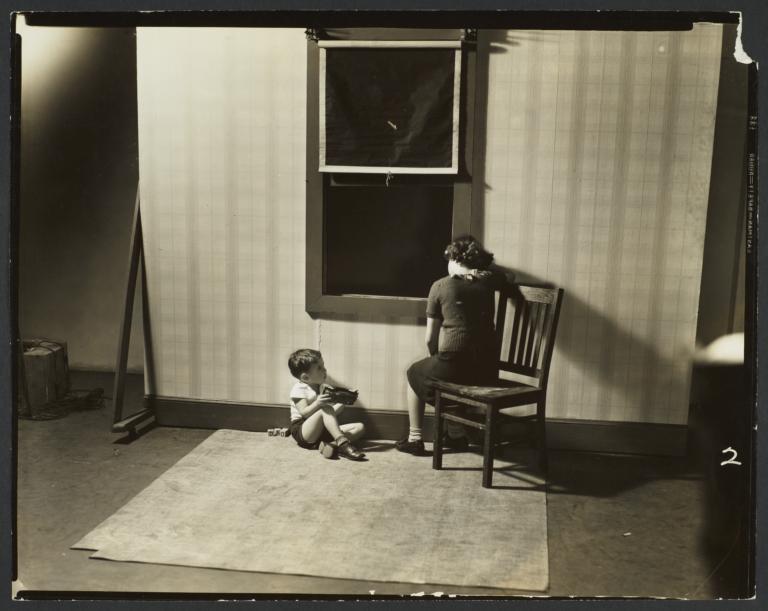 Boy with Toys near Window