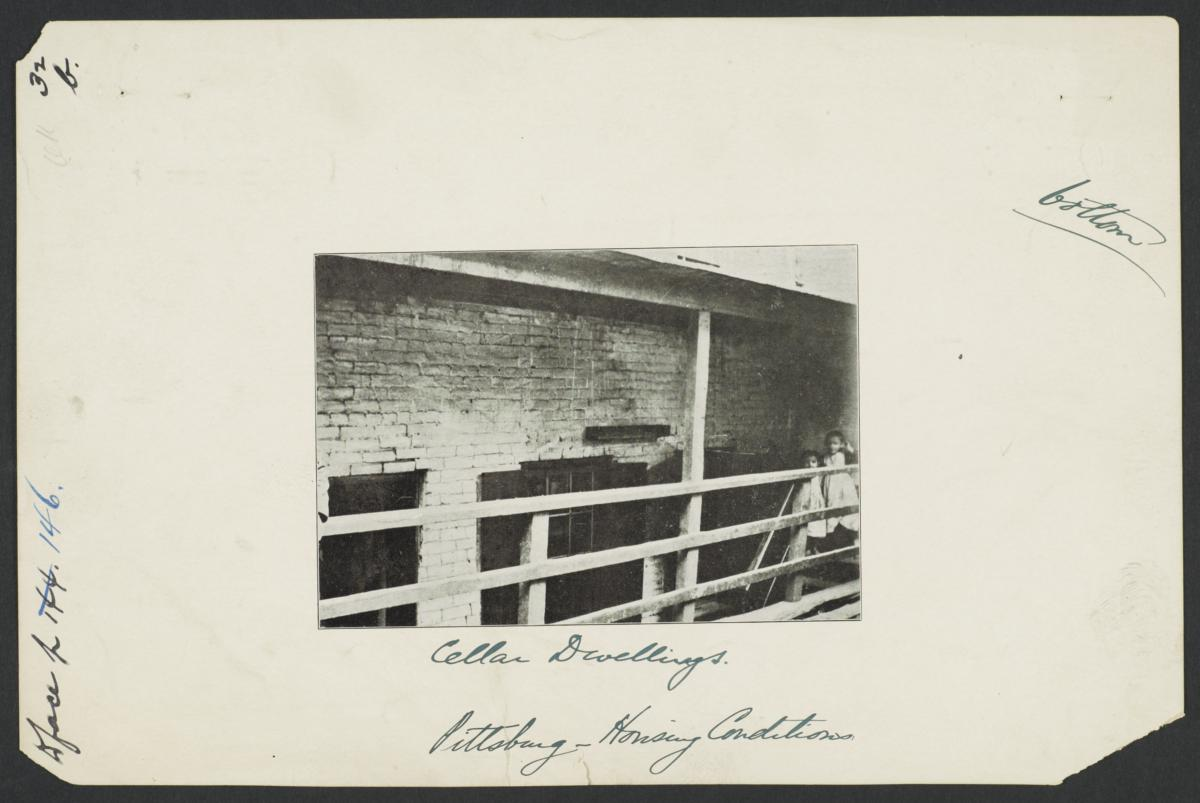 Pittsburgh: Housing Conditions, Cellar Dwellings