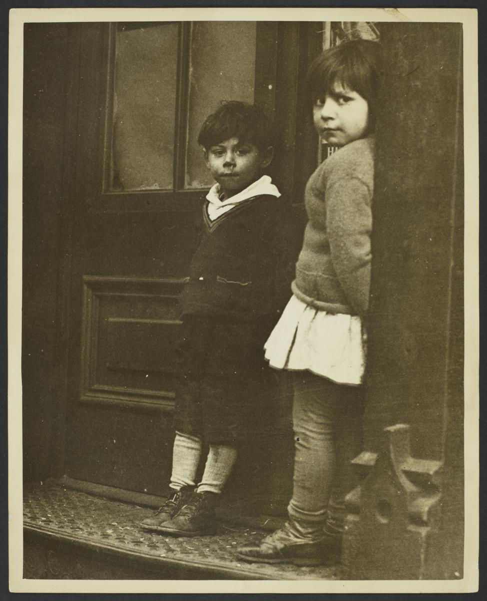 Two Children near Door