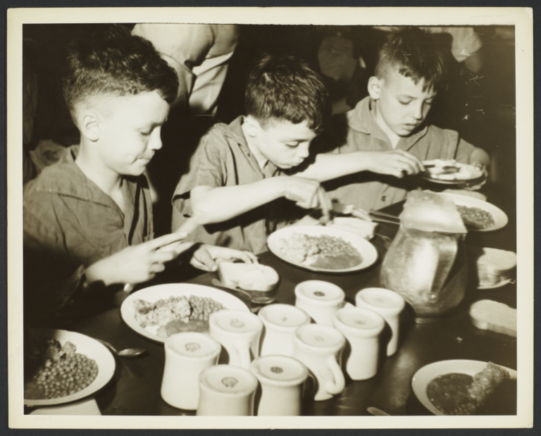 Three Boys Eating