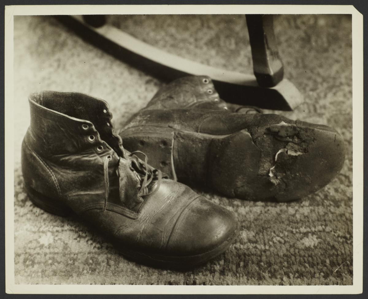 Old Fashioned Black And White Shoes