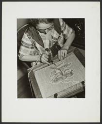 Woman Making Rug