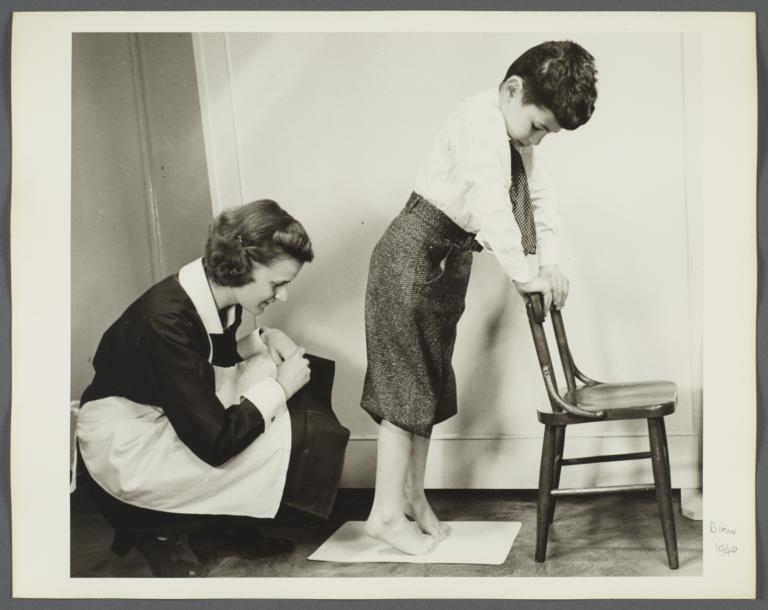 """Nurses' Educational """"Keep Well"""" Series Album -- Nurse with Child on Toes"""