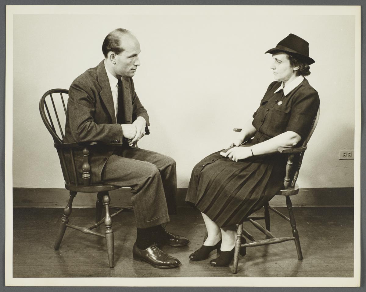 Health Examination-Men Album -- Nurse Speaking with Man