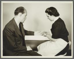 Health Examination-Men Album -- Nurse Testing Man's Blood