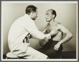Health Examination-Men Album -- Doctor Examining Man's Lymphnodes